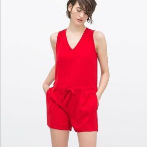 Zara Red Romper summer! NWOT